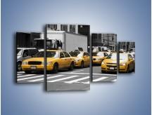 Obraz na płótnie – Amerykańskie taksówki w korku ulicznym – czteroczęściowy TM219W4