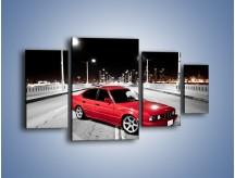 Obraz na płótnie – BMW 5 E34 na moście – czteroczęściowy TM227W4