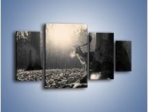 Obraz na płótnie – Jeleń w sepii – czteroczęściowy Z250W4