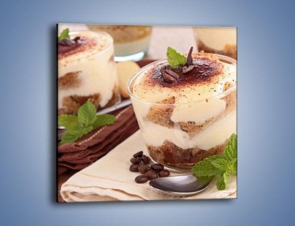 Obraz na płótnie – Mini kawowe desery – jednoczęściowy kwadratowy JN426
