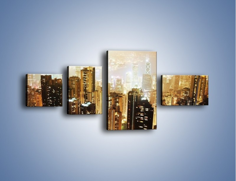 Obraz na płótnie – Miasto widziane z góry – czteroczęściowy AM007W5