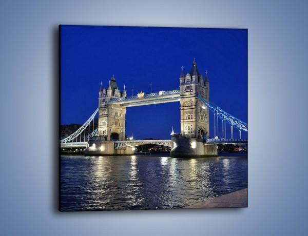 Obraz na płótnie – Tower Bridge nocą – jednoczęściowy kwadratowy AM145