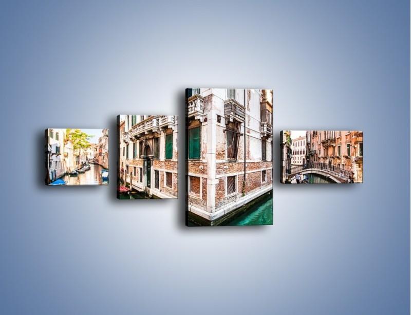 Obraz na płótnie – Skrzyżowanie wodne w Wenecji – czteroczęściowy AM081W5