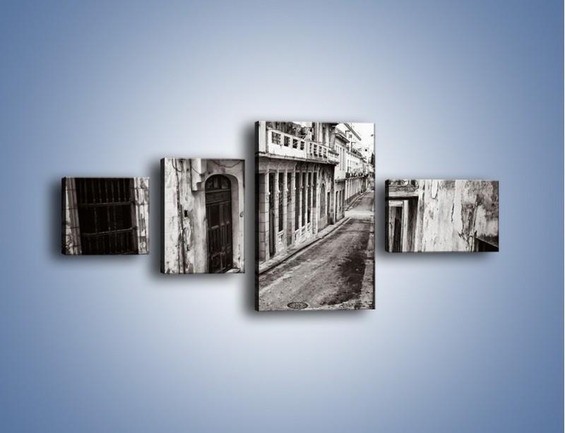 Obraz na płótnie – Urokliwa uliczka w starej części miasta – czteroczęściowy AM124W5