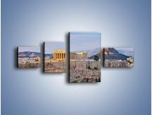 Obraz na płótnie – Ateńskie ruiny – czteroczęściowy AM162W5
