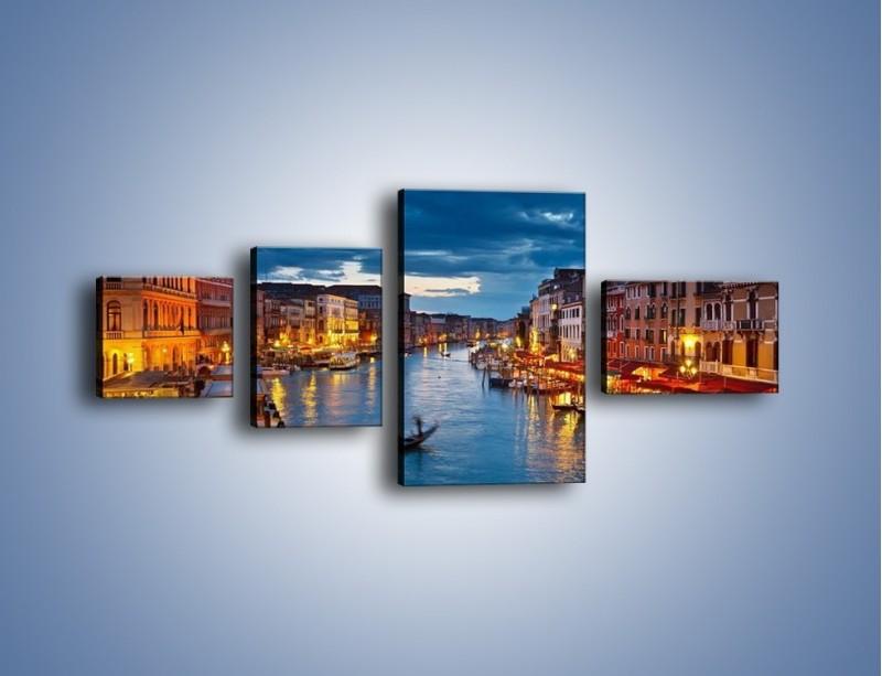 Obraz na płótnie – Wenecja romantyczną porą – czteroczęściowy AM163W5