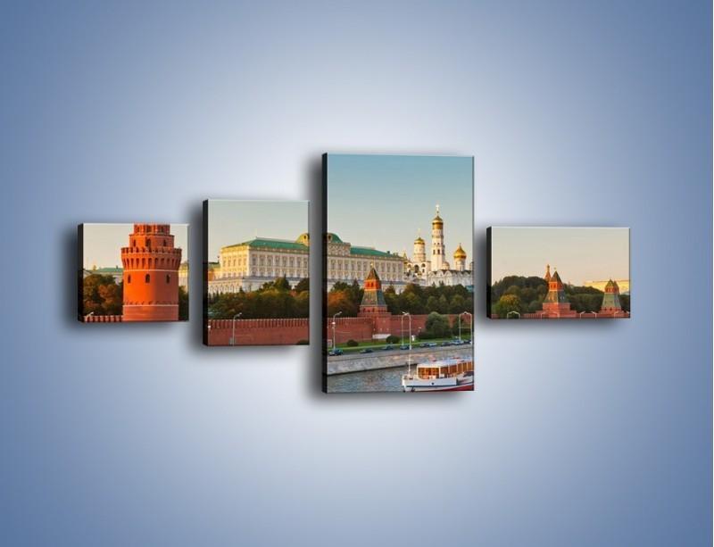 Obraz na płótnie – Kreml w środku lata – czteroczęściowy AM164W5
