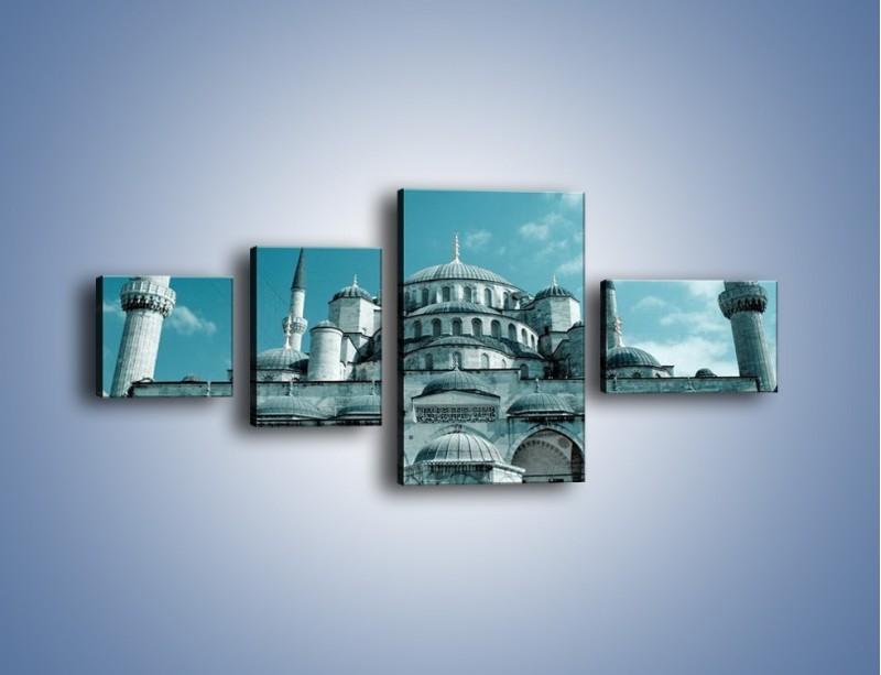 Obraz na płótnie – Taj Mahal – czteroczęściowy AM175W5