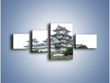 Obraz na płótnie – Azjatycka architektura – czteroczęściowy AM181W5