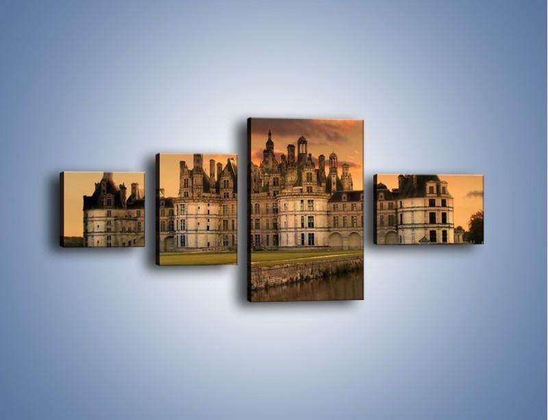 Obraz na płótnie – Stary zamek – czteroczęściowy AM200W5