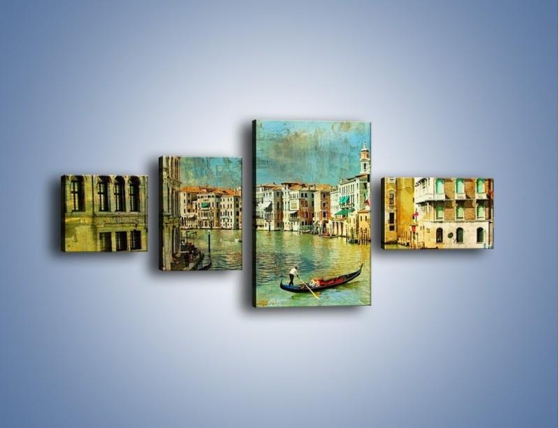 Obraz na płótnie – Weneckie lato w stylu vintage – czteroczęściowy AM245W5