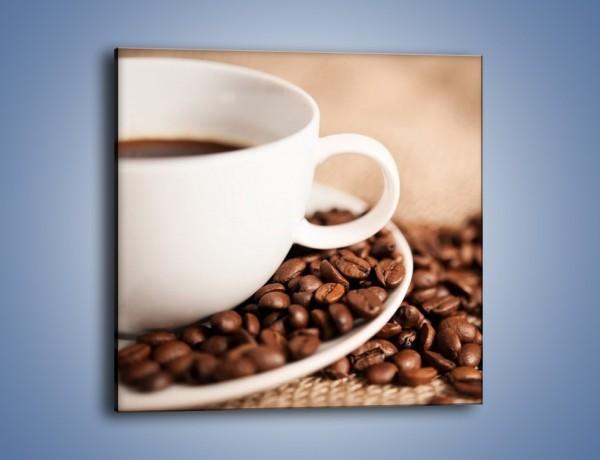 Obraz na płótnie – Kawa z bliska – jednoczęściowy kwadratowy JN431