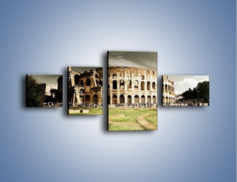 Obraz na płótnie – Koloseum przed burzą – czteroczęściowy AM271W5