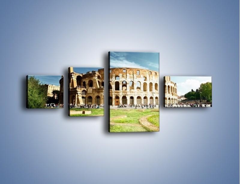 Obraz na płótnie – Koloseum w piękny dzień – czteroczęściowy AM273W5