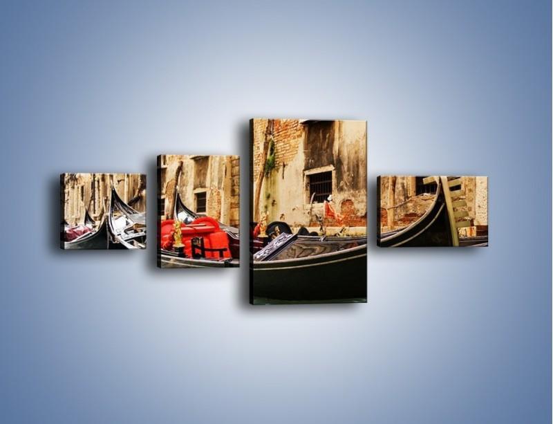 Obraz na płótnie – Wenecka gondola – czteroczęściowy AM286W5
