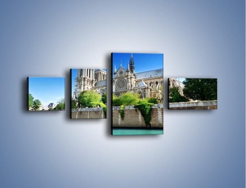Obraz na płótnie – Katedra Notre-Dame – czteroczęściowy AM305W5