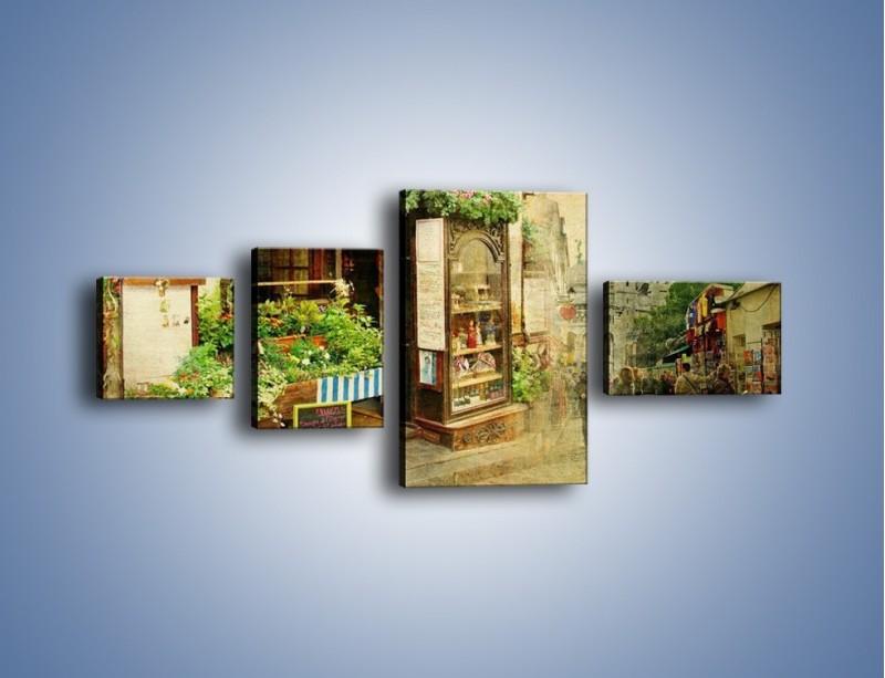 Obraz na płótnie – Paryska dzielnica Montmarte – czteroczęściowy AM323W5