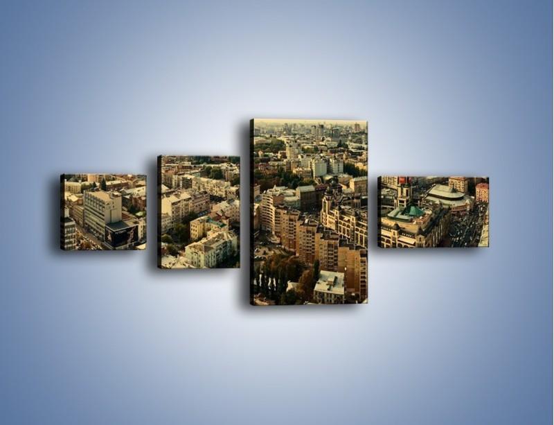 Obraz na płótnie – Panorama Kijowa – czteroczęściowy AM326W5