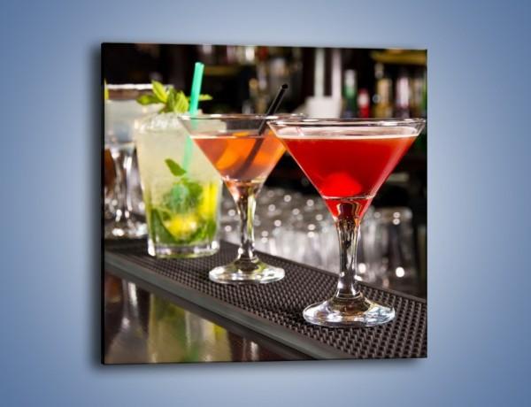 Obraz na płótnie – Drinki na barze – jednoczęściowy kwadratowy JN432