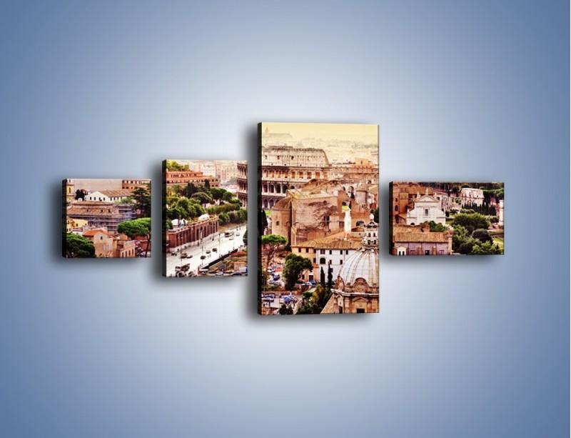 Obraz na płótnie – Panorama Rzymu – czteroczęściowy AM338W5
