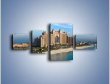 Obraz na płótnie – Atlantis Hotel w Dubaju – czteroczęściowy AM341W5