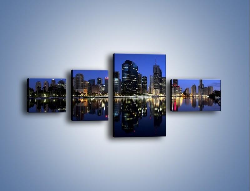 Obraz na płótnie – Brisbane w Australii nocą – czteroczęściowy AM354W5