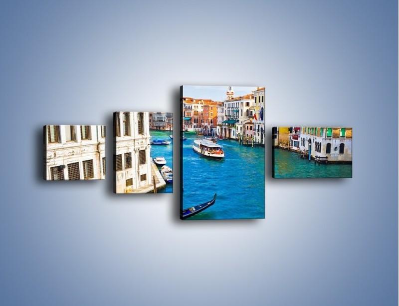 Obraz na płótnie – Kolorowy świat Wenecji – czteroczęściowy AM362W5