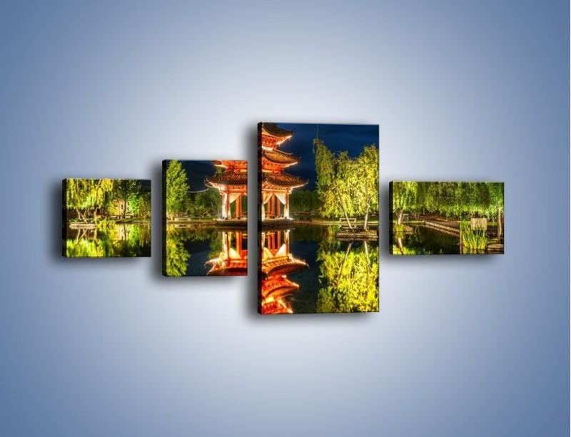 Obraz na płótnie – Urokliwy park w Chinach – czteroczęściowy AM365W5