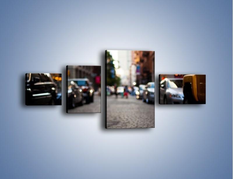 Obraz na płótnie – Rozmyty świat centrum miasta – czteroczęściowy AM367W5