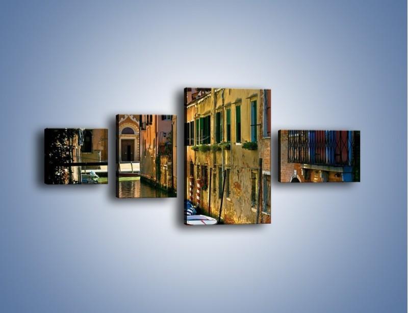 Obraz na płótnie – Cały urok Wenecji w jednym kadrze – czteroczęściowy AM371W5