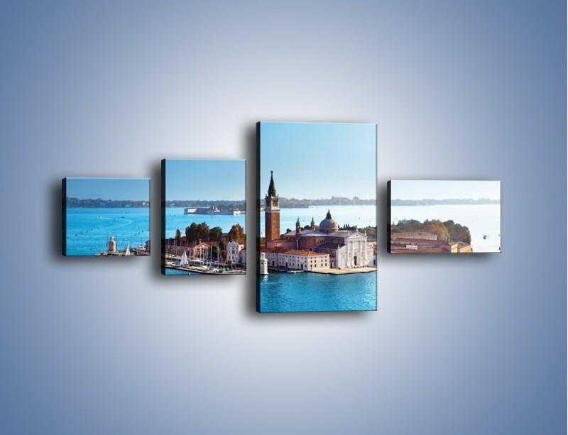 Obraz na płótnie – Wyspa San Giorgio Maggiore – czteroczęściowy AM380W5