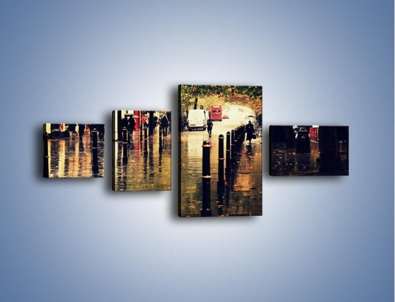 Obraz na płótnie – Deszczowa jesień w Moskwie – czteroczęściowy AM383W5