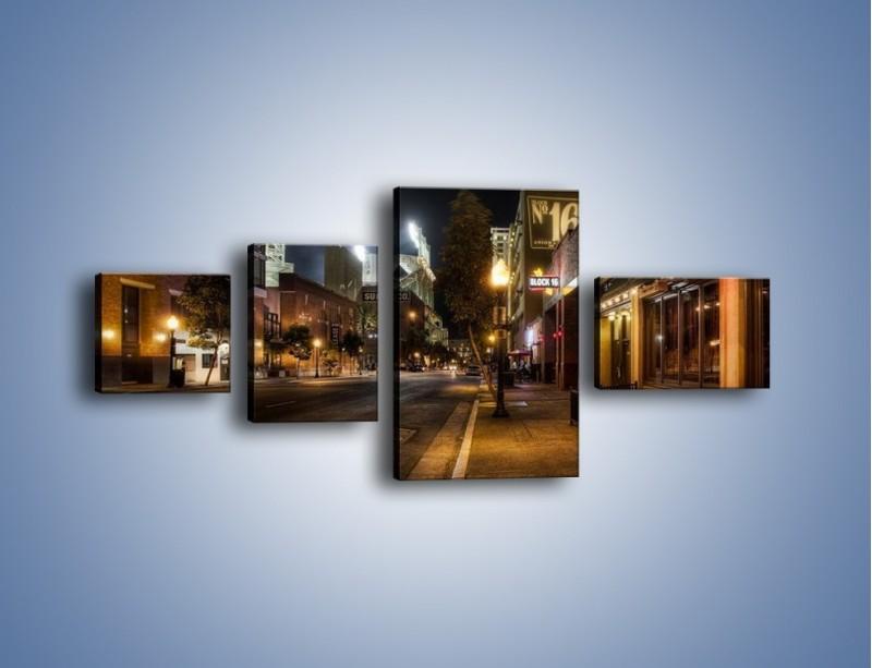Obraz na płótnie – Ulica San Diego w Kaliforni – czteroczęściowy AM390W5