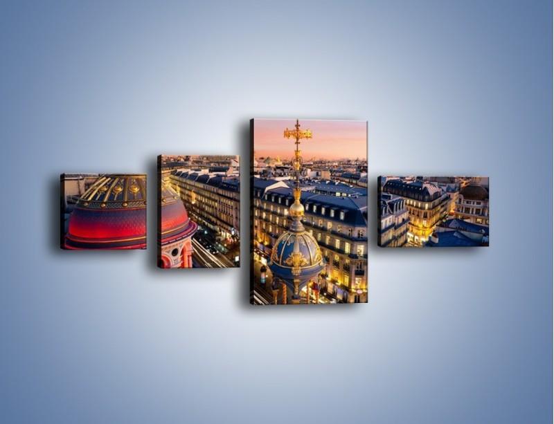 Obraz na płótnie – Paryska architektura – czteroczęściowy AM402W5