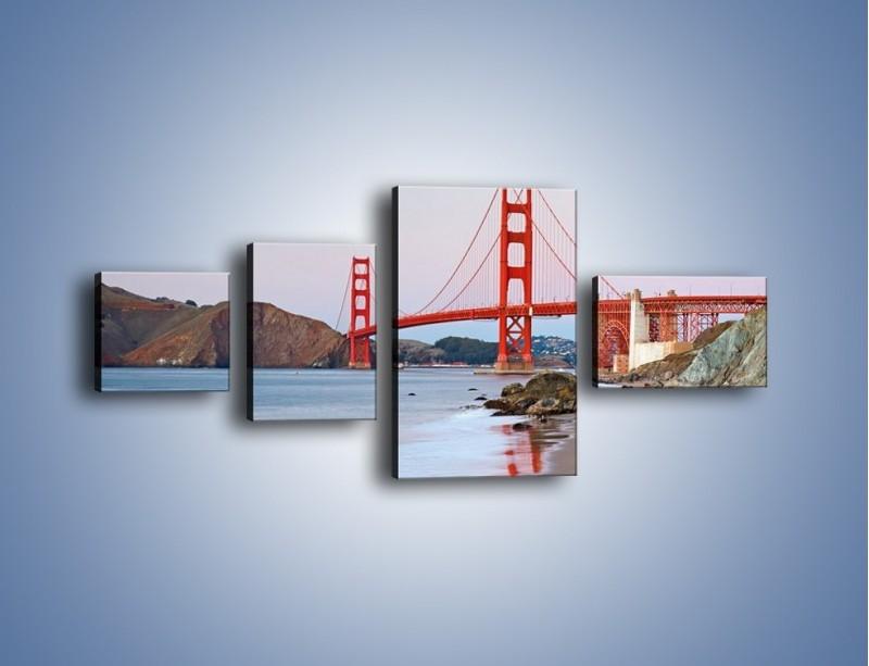 Obraz na płótnie – Most Golden Gate – czteroczęściowy AM406W5