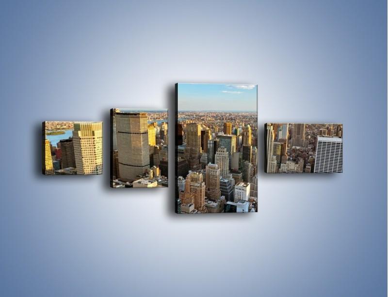 Obraz na płótnie – Manhattan w Nowym Yorku – czteroczęściowy AM412W5