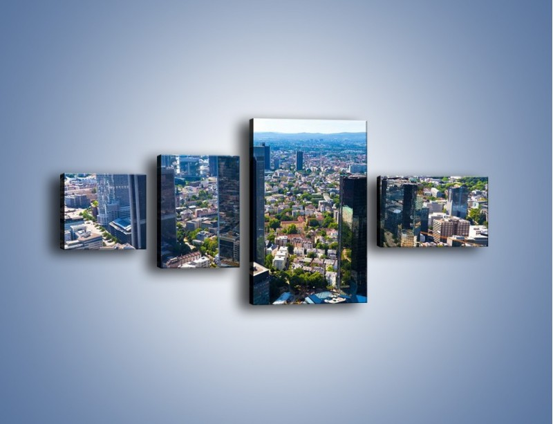 Obraz na płótnie – Panorama Frankfurtu – czteroczęściowy AM414W5