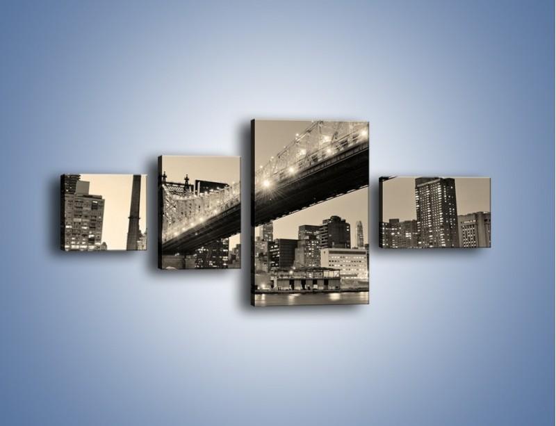 Obraz na płótnie – Most Qeensboro w Nowym Yorku – czteroczęściowy AM438W5