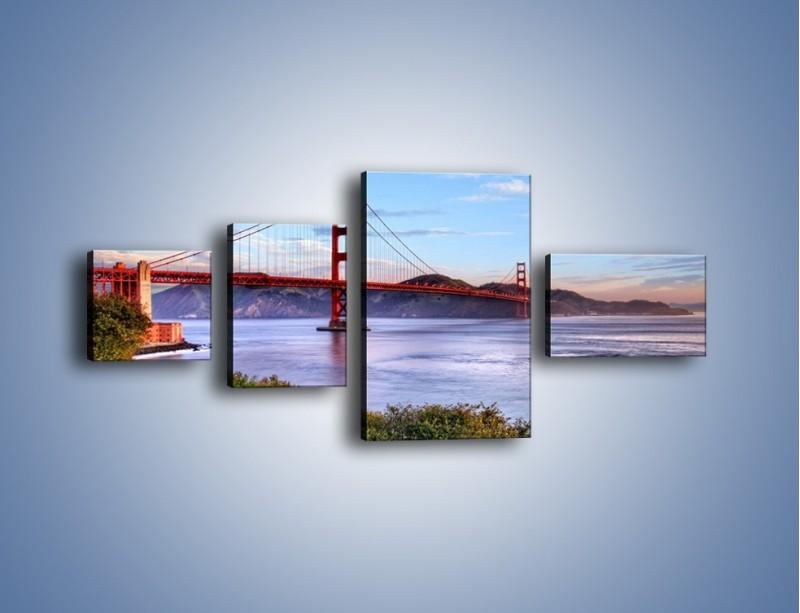 Obraz na płótnie – Most Golden Gate w San Francisco – czteroczęściowy AM444W5