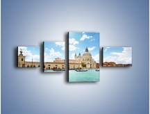 Obraz na płótnie – Canal Grande w Wenecji – czteroczęściowy AM449W5