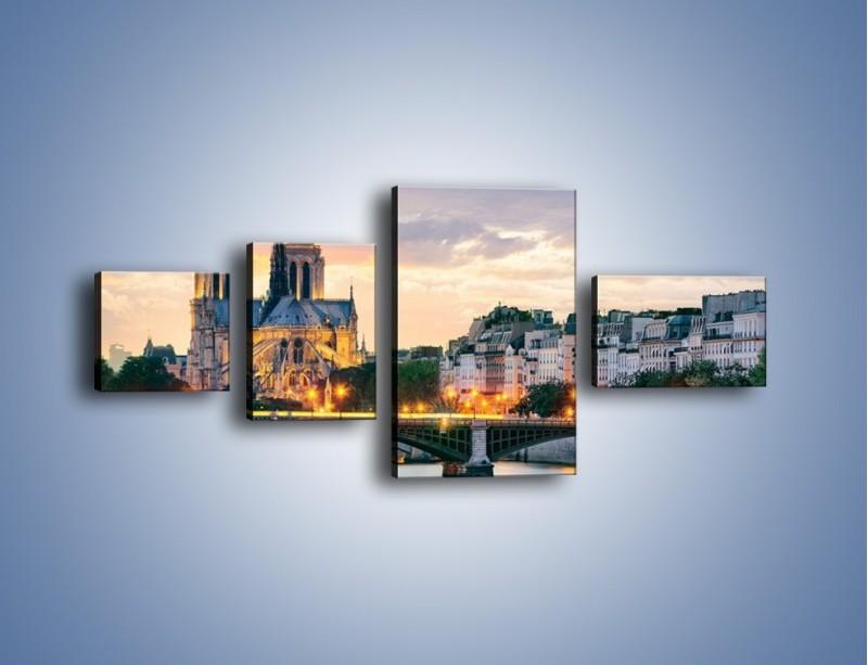Obraz na płótnie – Katedra Notre Dame – czteroczęściowy AM454W5