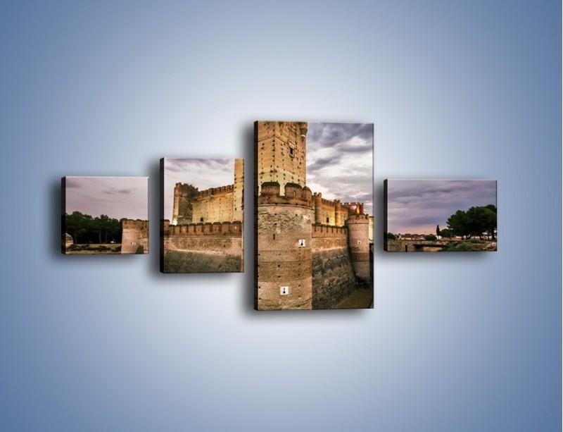 Obraz na płótnie – Zamek La Mota w Hiszpanii – czteroczęściowy AM457W5
