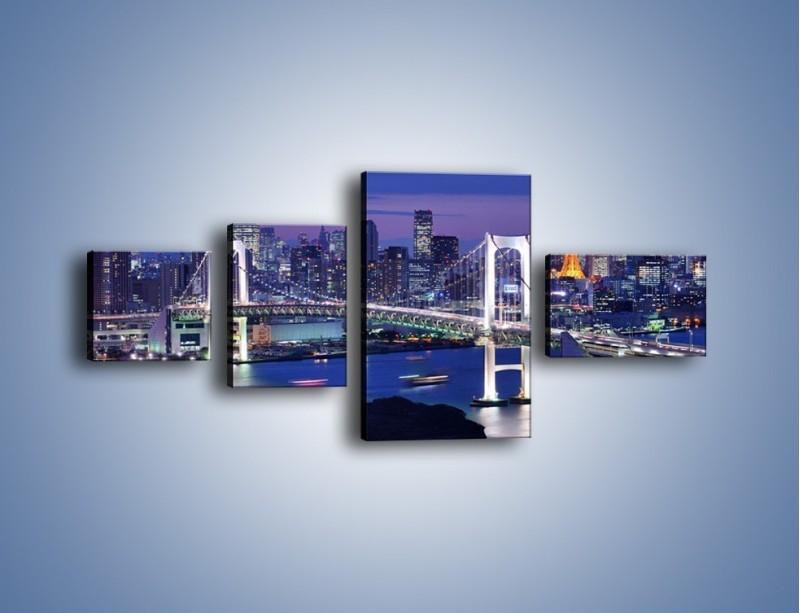 Obraz na płótnie – Tęczowy Most w Tokyo – czteroczęściowy AM460W5
