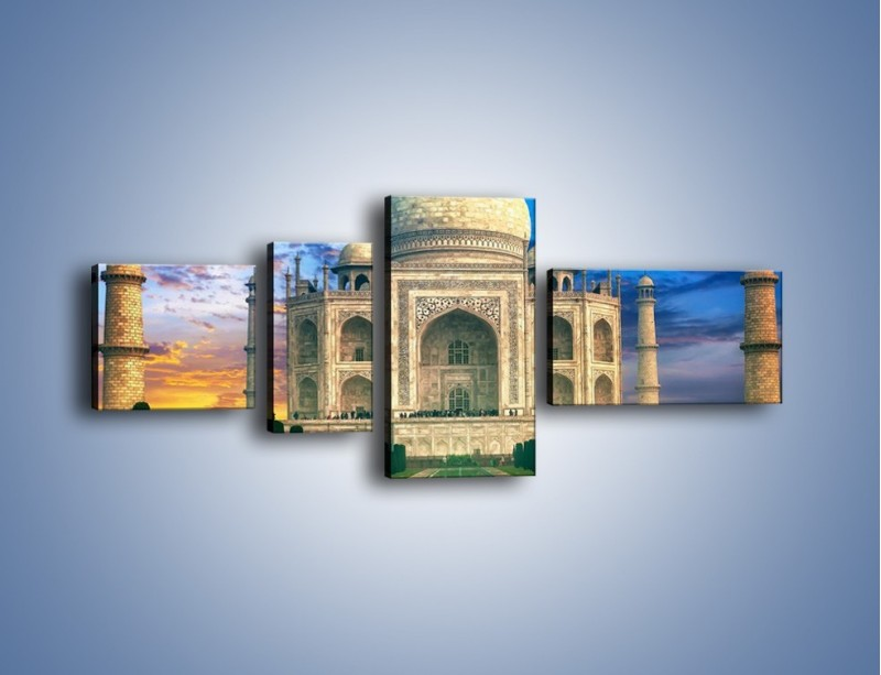 Obraz na płótnie – Tadź Mahal pod niebieskim niebem – czteroczęściowy AM466W5