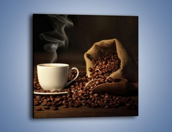 Obraz na płótnie – Kawa z wirującym dymem – jednoczęściowy kwadratowy JN438