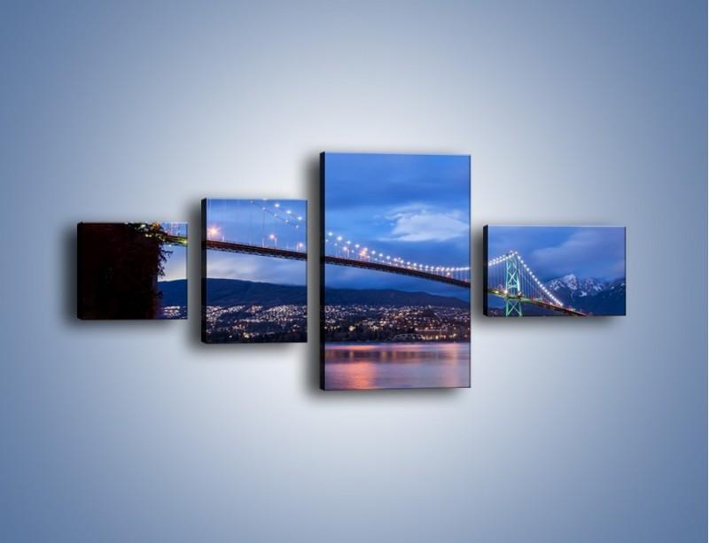 Obraz na płótnie – Most Lions Gate w Vancouver – czteroczęściowy AM471W5