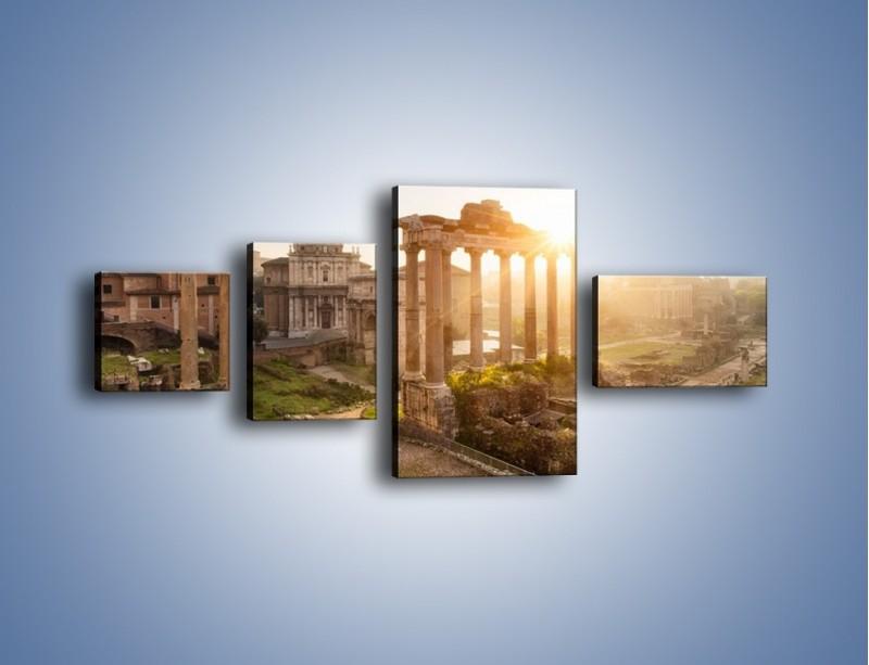 Obraz na płótnie – Rzymskie ruiny o zachodzie słońca – czteroczęściowy AM480W5