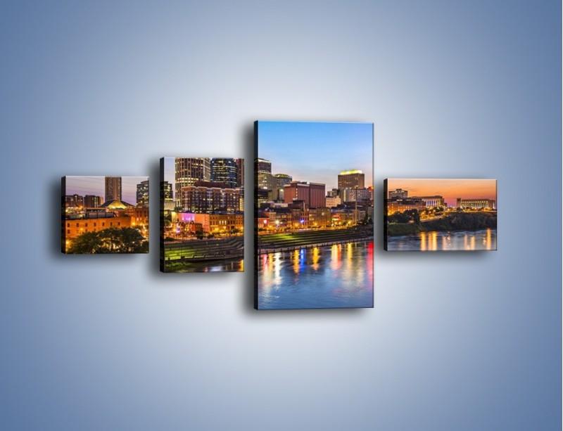 Obraz na płótnie – Nashville nad rzeką Cumberland – czteroczęściowy AM491W5