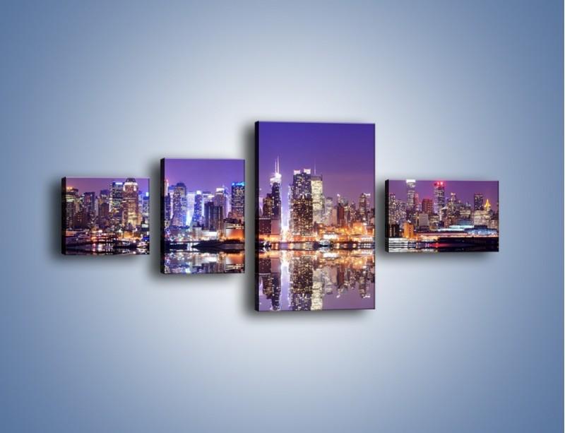 Obraz na płótnie – Panorama Midtown Manhattan – czteroczęściowy AM492W5