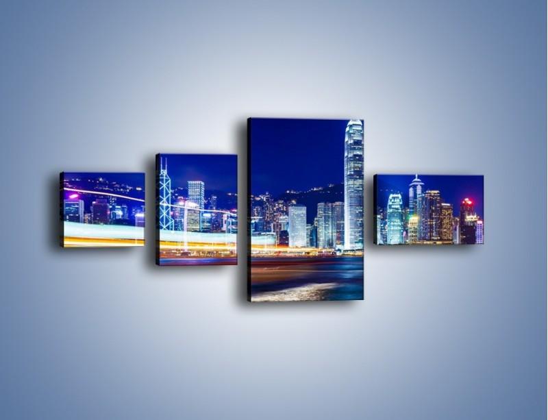 Obraz na płótnie – Panorama Hong Kongu – czteroczęściowy AM499W5